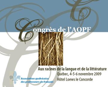 Congrès de l'AQPF 2009
