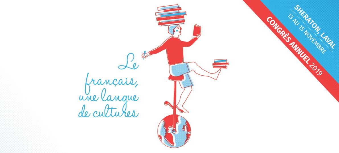 Un unicycliste avec des livres sur la tête